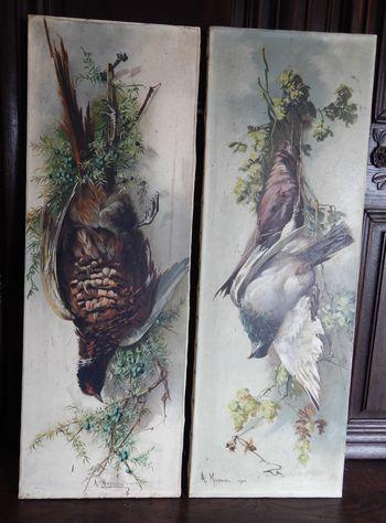 Vendu Pendant, 2 tableaux de 90X31 cm chacun